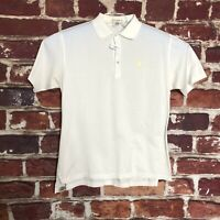 Peter Millar Mens Lg Short Sleeve Golf Polo Shirt  White  Logo