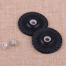 2x Rubber Wheel With Collar & Screw Fit For Brother Silver Reed Knitting Machine