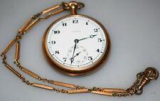 1916 Illinois 404  3 12s 17j Open Face Pocket Watch Running