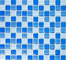Glasmosaik Mix Hellblau 2 5x2 5x0 8cm Mosaik Fliese