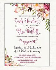 Engagement Invitation Bohemian Boho Floral Wedding Invite High Tea Garden Party