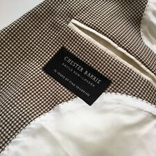 £1250 Chester Barrie Savile Row Ebury Suit 42S W36 Houndstooth Check Black Label