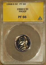 1968-S 5C Jefferson Head Nickel PF 66 ANACS 4528565 + Bonus