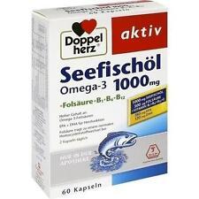 DOPPELHERZ Seefischöl Omega-3 1.000 mg+Fols.Kaps. 60 St