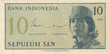 1964 10 SEN INDONESIA CURRENCY GEM UNC BANKNOTE NOTE MONEY BANK BILL CASH ASIA