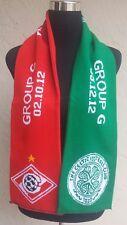 Celtic FC vs. FC Spartak Champions League Soccer Event Scarf 2012