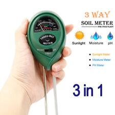 3-in-1 Soil Tester Meter for Garden Lawn Plant Pot MOISTURE LIGHT PH Sensor Tool