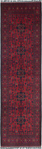 """Hand-knotted Carpet 2'7"""" x 9'7"""" Traditional Vintage Wool Rug"""