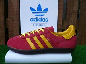 Adidas CANCUN CUSTOM 2015 80 s casuals UK 9 BNIB RED/YELL/GUM JAP ATHEN CUSTOM