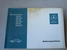 Mercedes R107 280SL 280SLC 350SL 350SLC 450SL Betriebsanleitung Deutsch NEU orig
