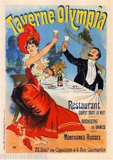 Taverne Olympia Wine Vintage French France Poster Picture Print Advertisement