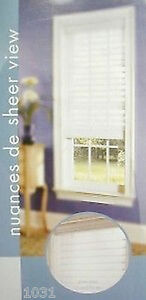 """2 NEW White Sheerview Window Shading Blind 59"""" X 64"""" lot of 2"""