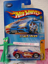 2005 Hot Wheels TRAK-TUNE #061/61∞Red w/Blue T∞ 1/10 TRACK ACES