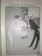 2 vintage Hutton Mitchell cartoon prints 1913-14