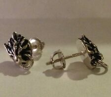 Final Fantasy VII FF 7 Cloud Strife Wolf  earrings Sterling Silver .925 Cosplay
