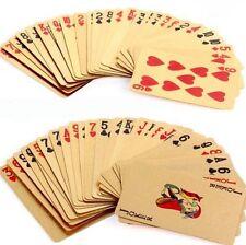 54 Blatt vergoldete Spielkarten Pokerkarten Skatkarten mit Qualitäts-Zertifikat