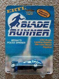 1982 ERTL BLADE RUNNER BRYANTS POLICE SPINNER CAR MOC