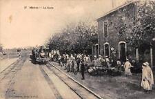 CPA ALGERIE MEDEA LA GARE (TRAIN