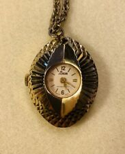 Swiss Made Lady Nelson Wind Up Necklace Pendant Watch