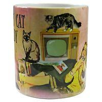 Crazy Cat Lady Mug, Retro Crazy Cat Lady Mug, Crazy Cat Lady Gift, Cat Lover Mug