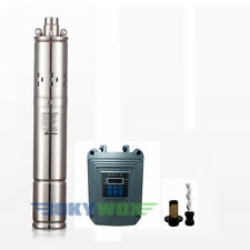 DC 72V Solar Screw Deep Well Submersible Pump 525FT Max Lift, Stainless Steel