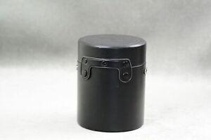 """Vtg Hard Lens Case 6 1/2"""" w Strap For Canon Nikon Soligor Sigma Vivitar Ricoh"""