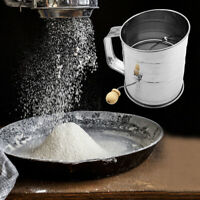 Flour Sugar Sifting Mesh Stainless Steel Sifter Shaker Baking Cup Home Kitchen