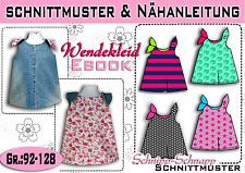 pdf.Schnittmuster und Nähanleitung für ein Wendekleid Gr.:92-128