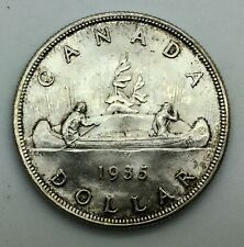 Canada 1935 George V Silver Dollar  with very Light Toning   Nice BU Coin #2