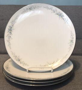 "Set Of 4 Vintage Noritake China Roseberry Dinner Plates 6241 10.5"" Diameter"