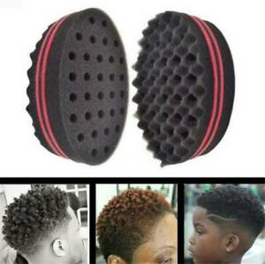 Wave Barber Hair Brush Sponge For Curly Hair Style DIY Tool Accessories_AU