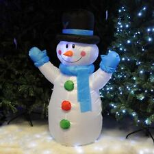 4 FT (4') Snowman LED Airblown Christmas Xmas Inflatable Lighted Garden Decor
