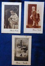 Lot 3 Postcard Merry Christmas-Photo Kids years'30-intonse