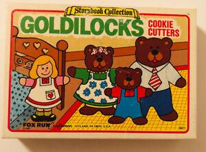 Storybook Collection 1985 Fox Run Goldilocks & Three Bears Cookie Cutters