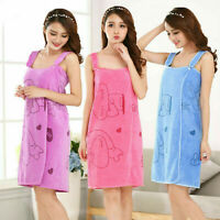 Women Fast Drying Wearable Bath Towel Shower SPA Wrap Body for Bathroom Bathrobe