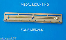 BAR 4 SPACE MEDAL MOUNTING COURT MILITARY MOUNT MEDALS MILITARY BRASS NEW