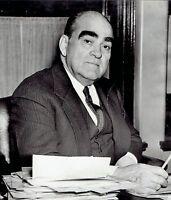 1939 Vintage Photo New York Yankees baseball Team President Ed Barrow at desk