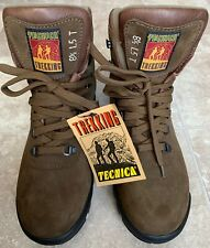 TECNICA TREKKING Brown Leather Hiking Ankle Boots Men's Size 8.5