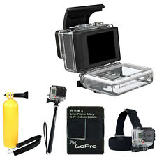 GoPro LCD Touch  BacPac Screen + Head Strap Kit For Camera HERO3, HERO3+ Black