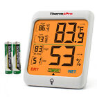 ThermoPro TP53 Digital LCD Indoor Hygrometer Thermometer Room Humidity Meter