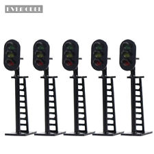 JTD06CN 5pcs Model Railway 3-Light Block Signals G/Y/R N Scale 4.5cm 12V Led New