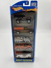 2000 Mattel Hot Wheels NIP 5 Pack HARLEY DAVIDSON Trucks 1:64, Diecast Gift Pack