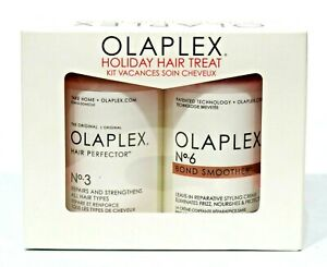 Olaplex No.3 HAIR PERFECTOR:& No.6 BOND SMOOTHER 3.3 OZ HOLIDAY DUO