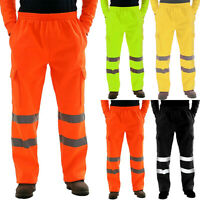 Men's Rain Over Waterproof Trousers High Elasticated Visibility Reflective Pants