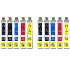 10 Ink Cartridges for Epson Stylus D92 DX6000 DX9400F SX110 SX400 SX610FW