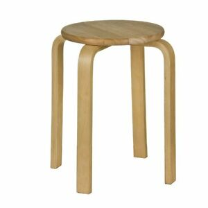 STRONG NEW STYLE ROUND RUBBER WOOD BREAKFAST STOOL