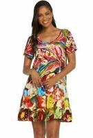 Jams World Hattie Dress Joy Fest Hawaiian Sundress X-Large USA Made