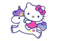 Hello Kitty Unicorn Sticker Vinyl Decal 4-493