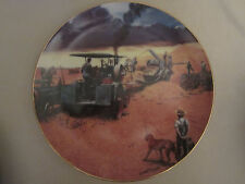 Beating The Storm collector plate Emmett Kaye Farming the Heartland Steam Engine