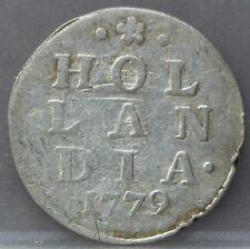 Holland - dubbele wapenstuiver 1779 -  2 stuiver 1779 Silver